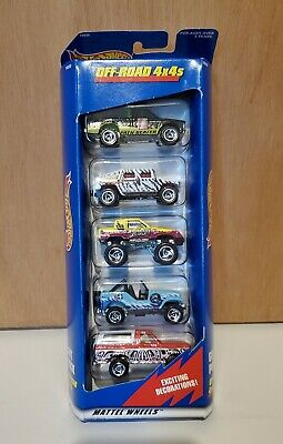 Hot Wheels 5 Pack Off-Road 4x4s 1997 Gift Pack Hummer Bronco 1:64 Diecast
