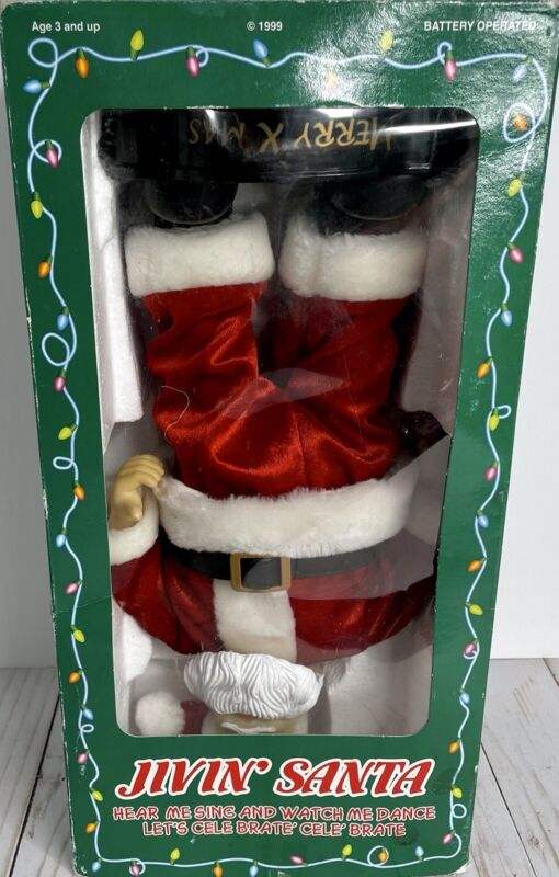 """BATTERY OPERATED Jiving Santa """"Help Me Sing And Watch Me Dance"""""""