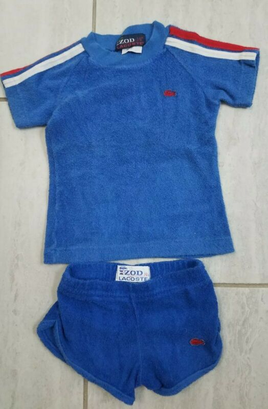 Vintage 80s Izod Jg Lacoste Baby Toddler Terry Cloth Outfit 2T 4T Preppy Golf