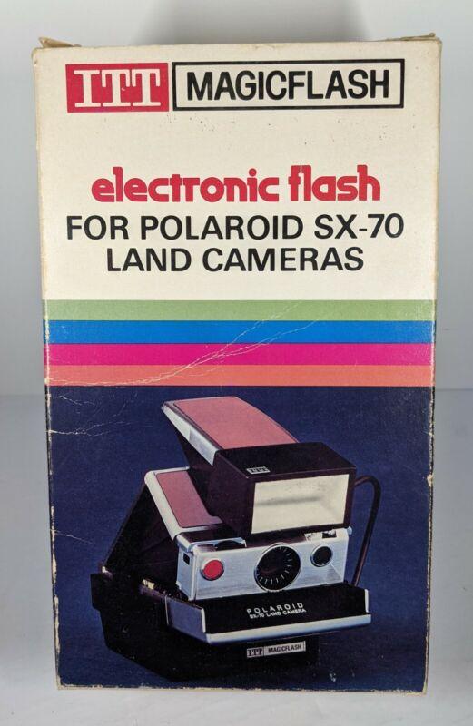 ITT MagicFlash Electronic Flash For Polaroid SX-70 Land Cameras.