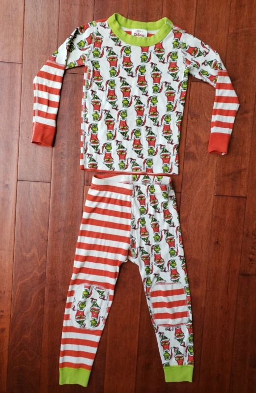 Dr. Seuss by HANNA ANDERSSON The Grinch Christmas Holiday Pajama Set Sz 100 4 4T