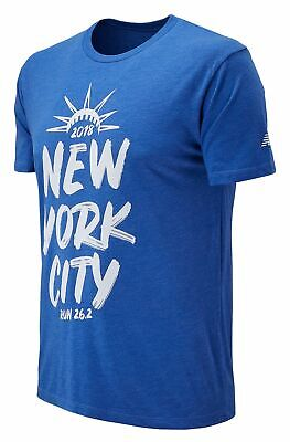 New Balance Men's 2018 NYC Marathon Run 26.2 Tee Blue Size XL