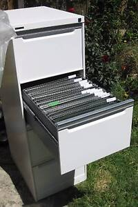 """WHITE Heavy Duty 4 drawer FILING CABINET """"Brownbuilt"""" with key Balaclava Port Phillip Preview"""