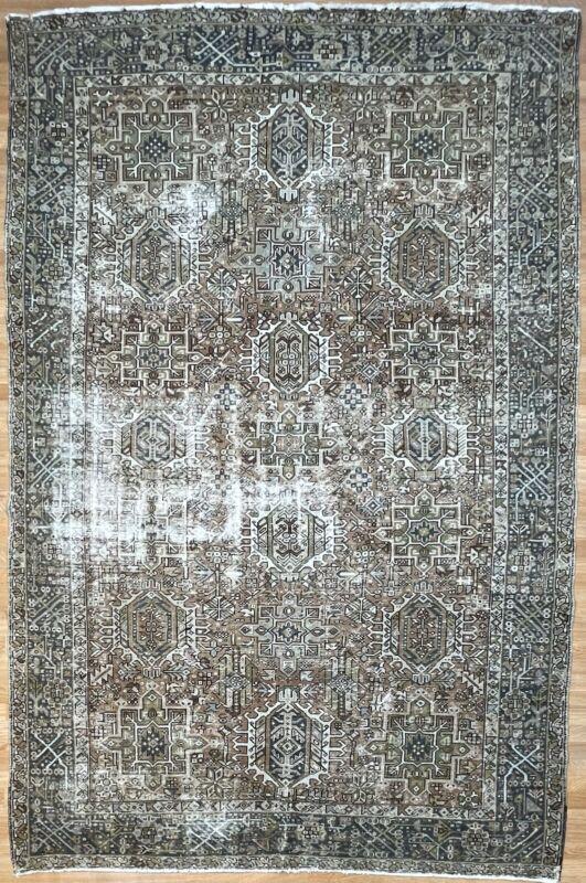 Terrific Tribal - 1900s Antique Oriental Rug - Nomadic Carpet - 7.4 X 10.10 Ft.