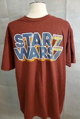 STAR WARS ~RED~VINTAGE ~RETRO ~LOGO 1977~ graphic crew T Shirt mens L~EUC 1977 Mens Retro T-shirt