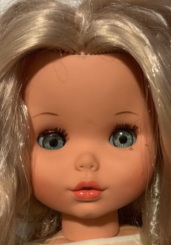 "18"" Furga Italy Vinyl Girl Doll Vintage Kissy Face Sleep Eye Original Shoes"