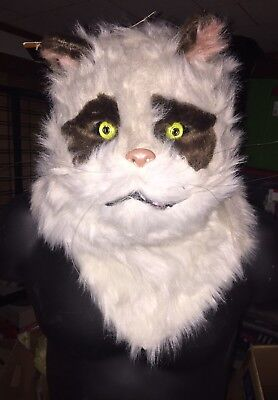 Realistic Cat Mask With Moving Mouth Jaw Moves As You Speak NWT