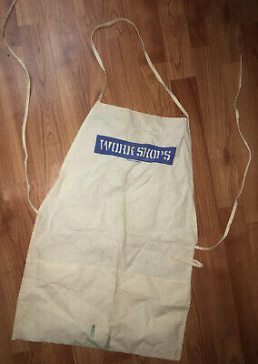 Vintage WORK SHOPS D.R.I. Industries Industrial Hardware Canvas Tool Apron
