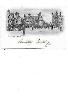 HUNTLY Postcard The Square Aberdeenshire 1902 Postmark