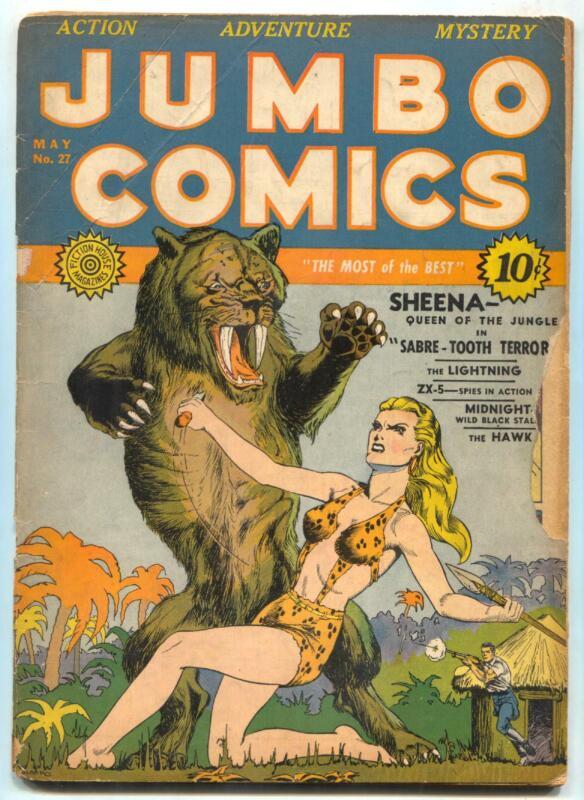 Jumbo Comics #27 1941- Sheena- Good Girl Art G