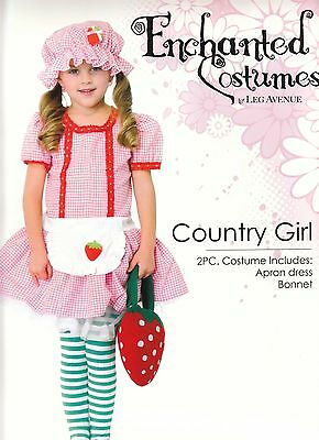 IAL Leg Avenue C48113 Kinder Kostüm Erdbeere Country Girl - Country Girl Kostüm Kinder