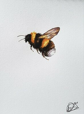 Set of  2 bee paintings £6.00