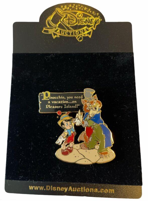 Disney Auctions - Story of Pinocchio Pin - Pinocchio & J. Worthington Foulfellow
