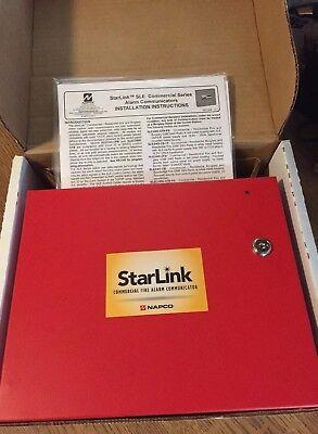 Napco Starlink Slecdma-cfb Commercial Fire Burglary Cdma Radio Red Enclosure
