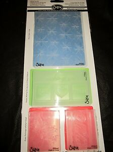 Sizzix Textured Impressions Embossing Folders WINTER #2 Folder Set