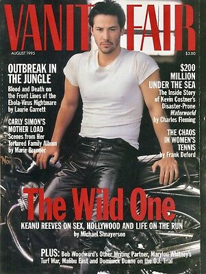KEANU REEVES ~~ Vanity Fair Magazine ~~ August 1995 ~~ 8/95 ~~ B-4-3
