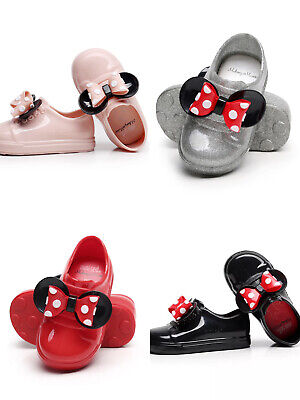 Kid Jelly Shoes for Girl Minnie Mickey Mouse Rain Boots Red Silver Casual Sandal](Red Boots For Girl)