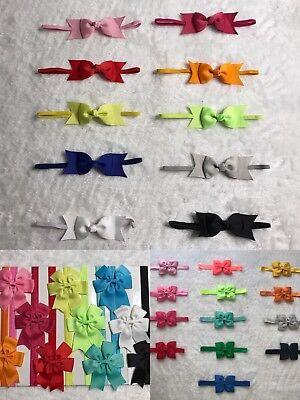 33 Pcs Mix Lots Baby Toddler Infant Girls  Elastic Headband-3 Style Multi-color