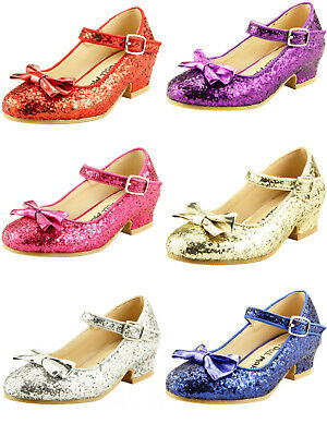 Girl's Wedding Party Glitter Dress Dance Shoes Toddler Little Girls w/ Pump - Glitter Shoes Girls