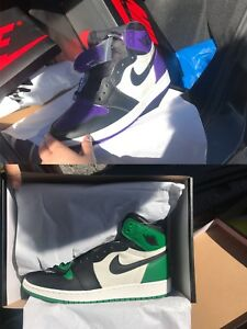 air jordan 1 retro court purple/high pine green