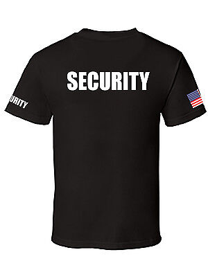 Halloween Usa Flag (NW MEN'S PRINTED SECURITY STAFF USA FLAG POLICE FUNNY CUSTOM HALLOWEEN)