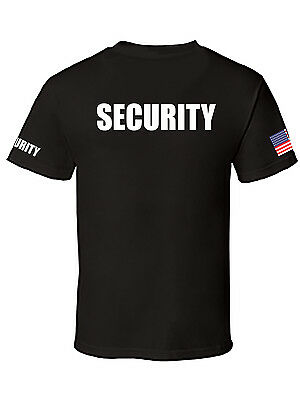 Police Custome (NW MEN'S PRINTED SECURITY STAFF USA FLAG POLICE FUNNY CUSTOM HALLOWEEN)