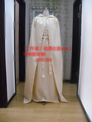 Gandalf The White Costume (Lord of the Rings Gandalf White Cosplay Costume Robe Cloak Cape Outfit)