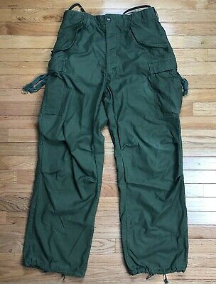 VTG US Military Army Field Trousers Cargo Pants OD Green USA Size 31x32 M