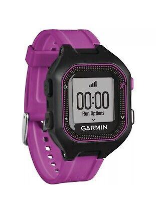 New Garmin 010-01353-20 Forerunner 25 GPS Running Watch (Small; Black/Purple)