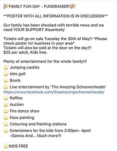 Fundraiser for cancer Gillieston Heights Maitland Area Preview