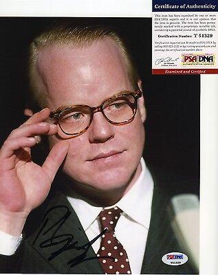 PHILIP SEYMOUR HOFFMAN SIGNED AUTOGRAPHED PSA/DNA COA COLOR PHOTO TOUGH GRAPH!!