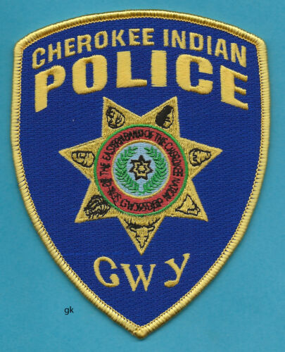 CHEROKEE INDIAN  EASTERN BAND NORTH CAROLINA POLICE SHOULDER PATCH