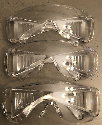 Safety Glasses Over Glasses Goggles Protective Eyewear 3pk Anti Fog