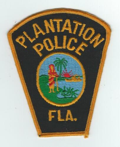 VINTAGE PLANTATION, FLORIDA POLICE (CHEESE CLOTH BACK) patch