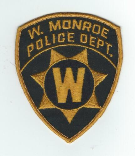 VINTAGE WEST MONROE, LOUISIANA POLICE DEPT. (CHEESE CLOTH BACK)patch