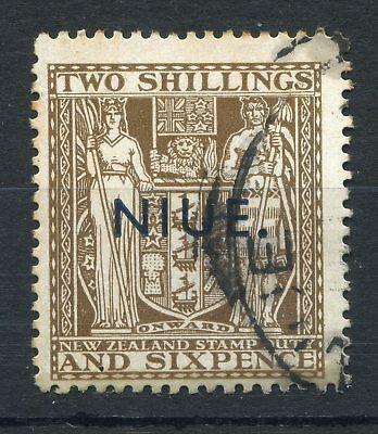 Weeda Niue 49 used 1931 issue overprinted New Zealand 2/6d. Postal-Fiscal CV $13