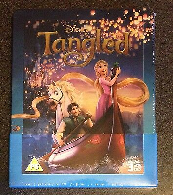 Disney TANGLED 3D Blu-Ray SteelBook Zavvi Select iTunes & UV Digital Reproduce DMR