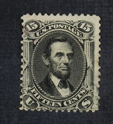 CKStamps: US Stamps Collection Scott#77 15c Lincoln Used Lightly Crease CV$175