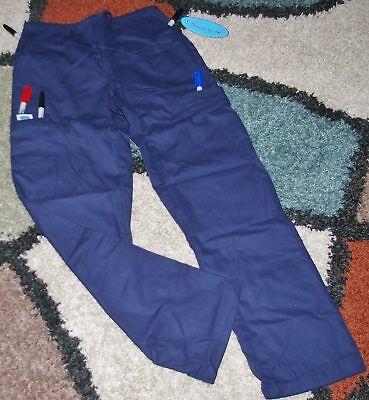 Frederick Drawstring Cargo 6 pocket Scrub Pant Elastic back Size XS Style 611 ()