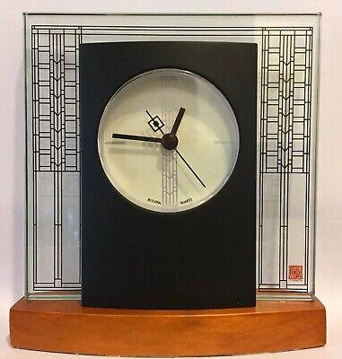 Bulova Frank Lloyd Wright Collection Glasner House Tabletop Desk Clock B7750