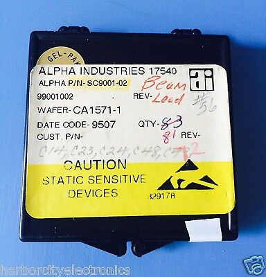 72x Sc9001-02 Alpha Industries Capacitor Chip Rf Microwave Product 72units