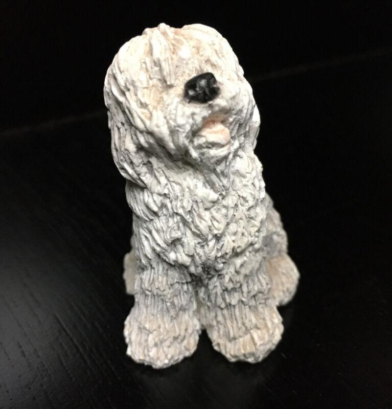 1989 UDC Stone Critters OLD ENGLISH SHEEPDOG Figurine (POLYSTONE)