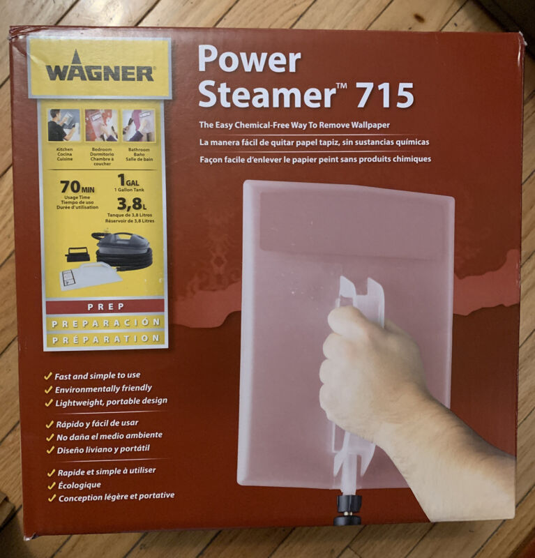 WAGNER POWER STEAMER 715 - THE EASY CHEMICAL FREE WAY TO REMOVE WALLPAPER - NEW!