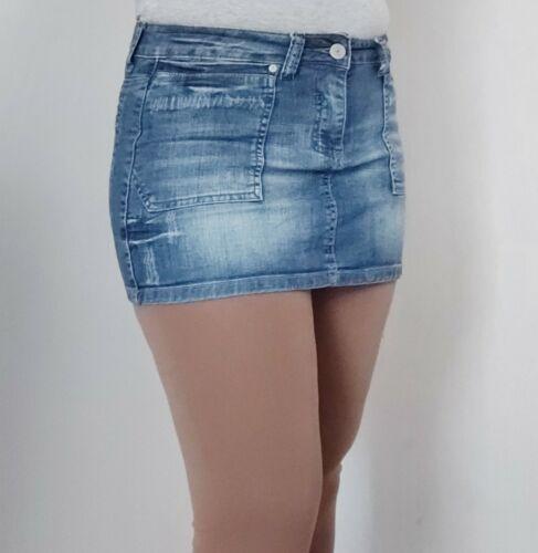 Mini jupe en jean taille l