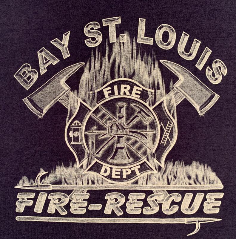 Bay St. Louis Fire Department Hancock County Mississippi MS T- Shirt Sz XL