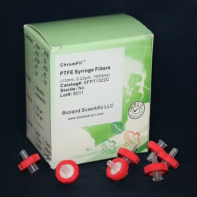 13mm Ptfe Syringe Filter 0.22 Um Pore Size Non-sterile 10 - 1000 Pieces