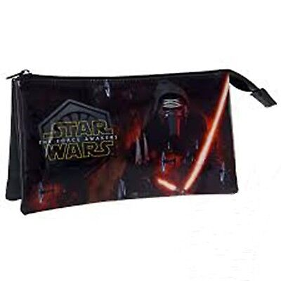 STAR WARS First Order - Triple Vanity/Pencil Case - Size approx: 22x12x5cm ](5 Star Pencil Case)