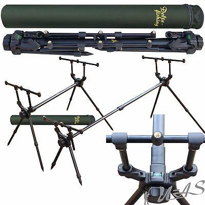 Delta Fishing Quick Travel Rod Pod 4 Bein Ruten Ständer Ruten Halter Rohr Kva