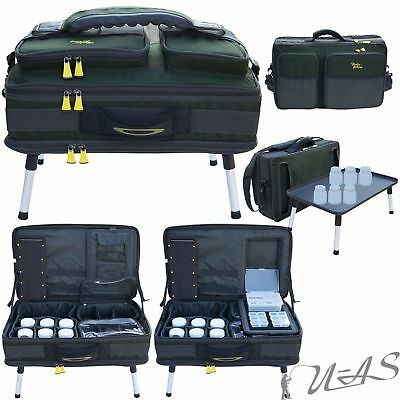 Delta Fishing Luxus XXL CarryaLL Angeltasche 3 XXL Tackle Boxen Bivvy Table Kva Zubehör