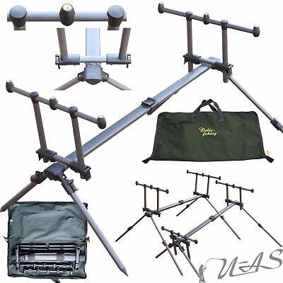 Delta Fishing Rod Pod 4 Bein Ruten Ständer 3 Ruten Rutenhalter Rutenauflage Sha 3 Rod Pod